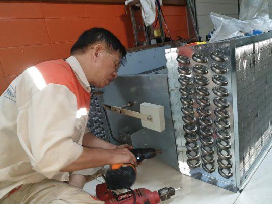 Hình ảnh: Quá trình lắp đặt máy