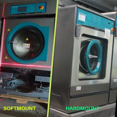 Máy giặt công nghiệp chân mềm và chân cứng