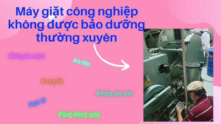 Những lỗi máy giặt công nghiệp thường gặp phải